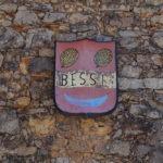 Very old original sign at our entrance door at Bastide Avellanne