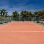 The tennis court at our petit hotel Bastide Avellanne